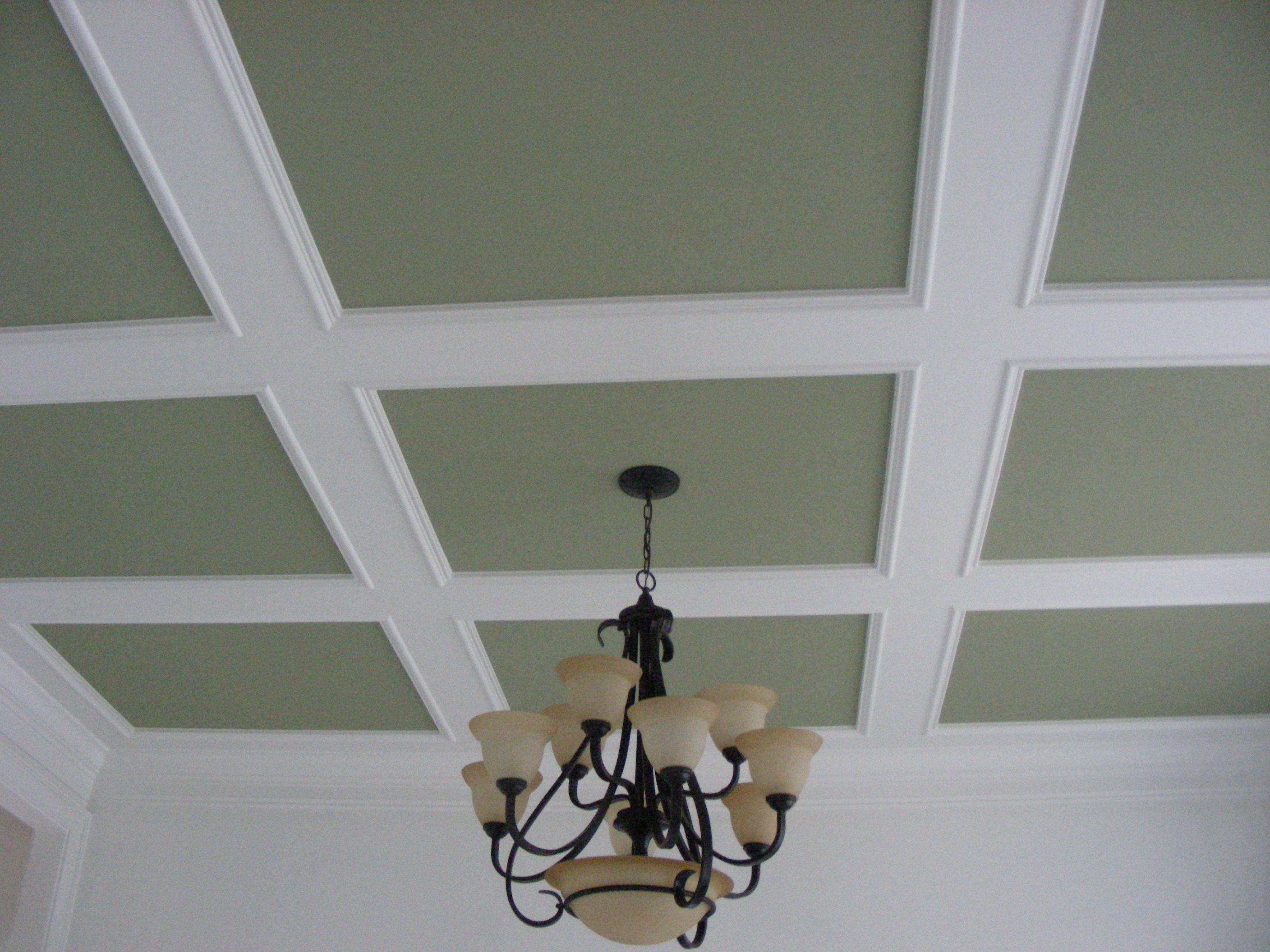 Coffered ceiling trim suspended drop kitchen ceiling