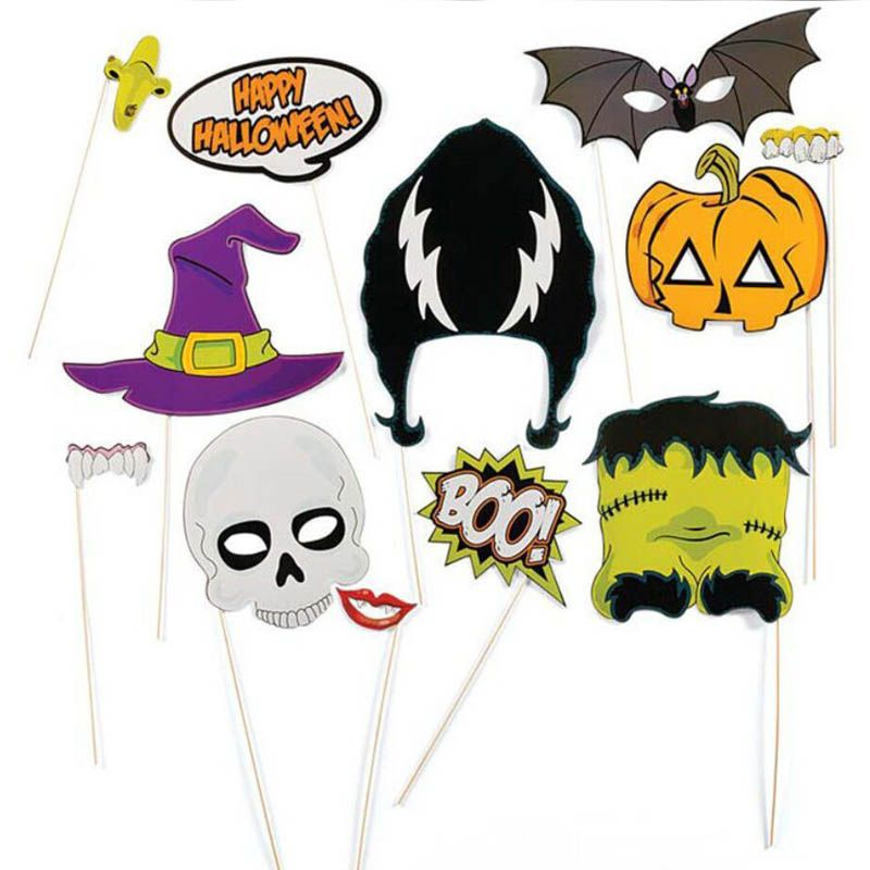 Happy halloween big size Mustache Lip For Fun Favors Photobooth - halloween party decorations cheap