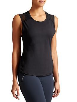 Mesh Splice Chi Muscle Tank The Muscle Tank Silhouette Gets
