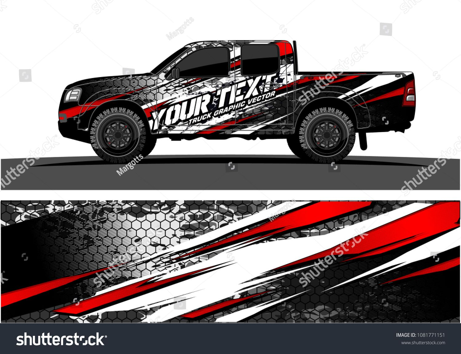 Truck graphic vector abstract grunge background design for vehicle vinyl wrap and car branding