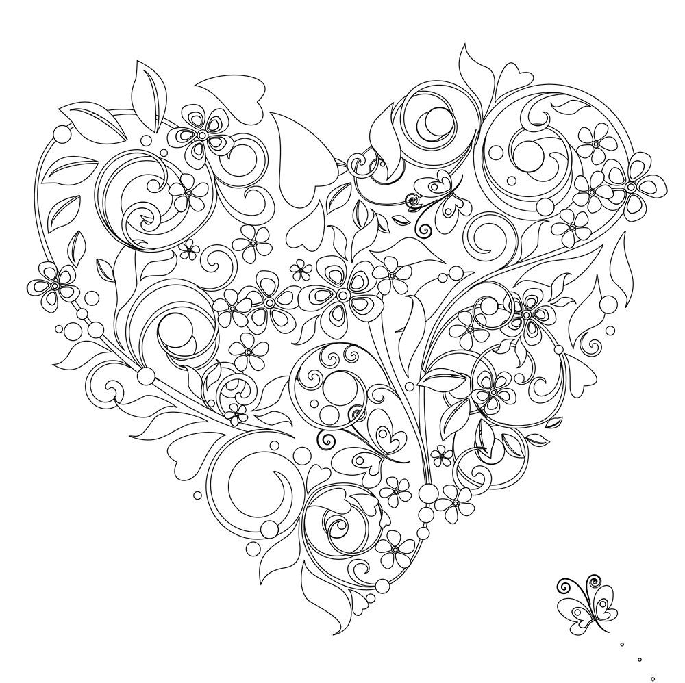 Free Printable Heart Coloring Pages For Kids Heart Coloring Pages Printable Valentines Coloring Pages Valentine Coloring