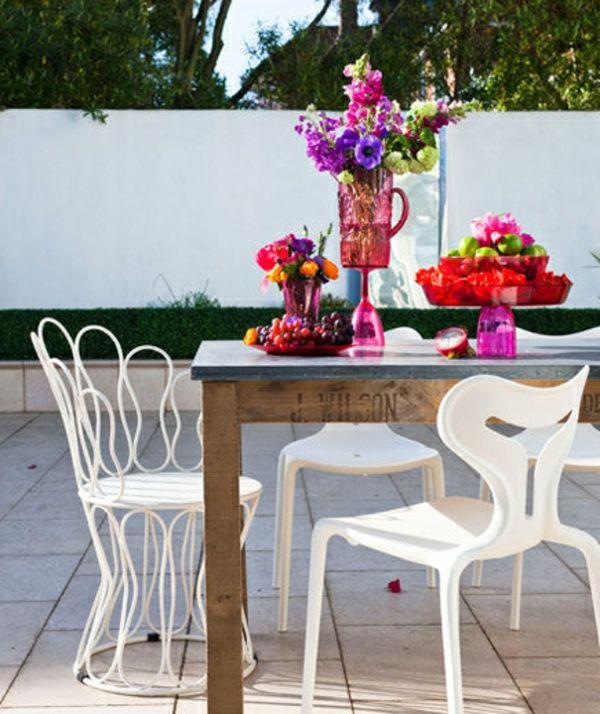 Gartendeko Selber Machen U2013 Farbenfrohe DIY Gartenideen   Gartendeko Selber  Machen Esstisch Stühle