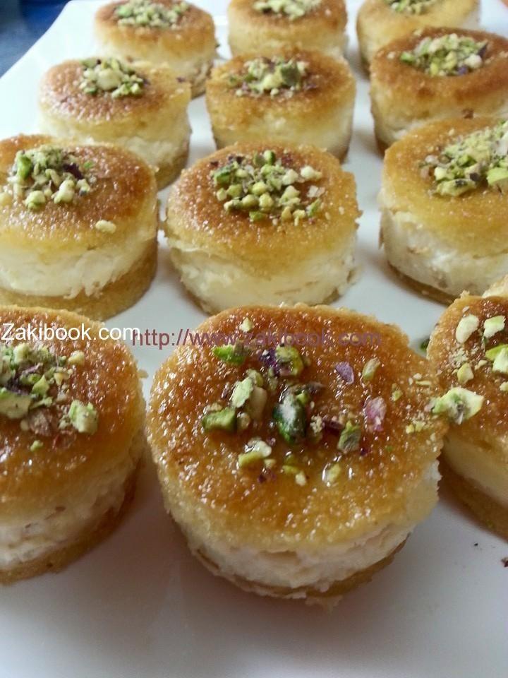 ميني بسبوسة بالقشطة زاكي Ramadan Desserts Ramadan Recipes Egyptian Food