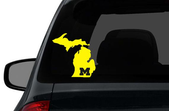 Michigan u of m michigan university custom state map wall sticker vinyl wall decal