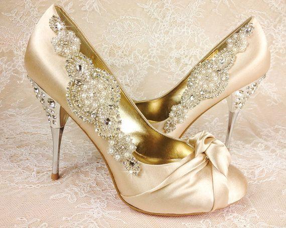 Wedding Shoe Clips Bridal Shoe Clip Crystal Shoe clip by VioGemini