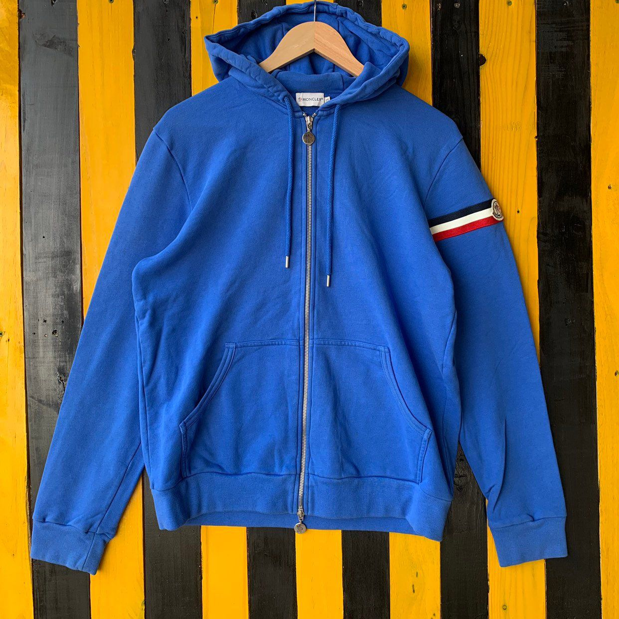 Excited To Share The Latest Addition To My Etsy Shop Vintage Moncler Full Zipper Hoodie Jumper Pullover Blue C Full Zipper Hoodie Hoodie Jumper Zipper Hoodie