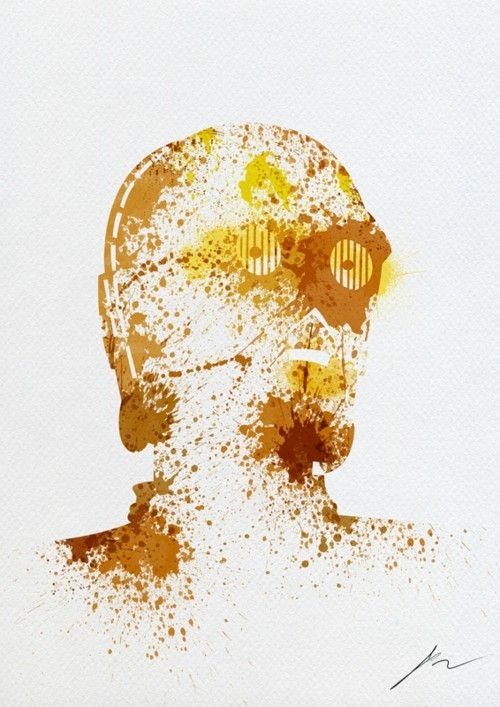 Paint Splatter C3PO; you don't need to be fluent in over six million languages to understand awesome art!