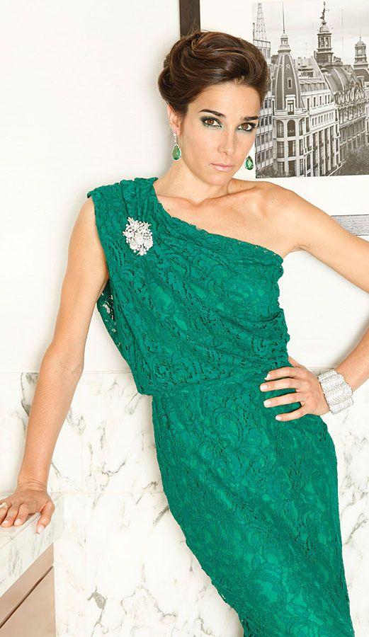 Vestido verde juana viale