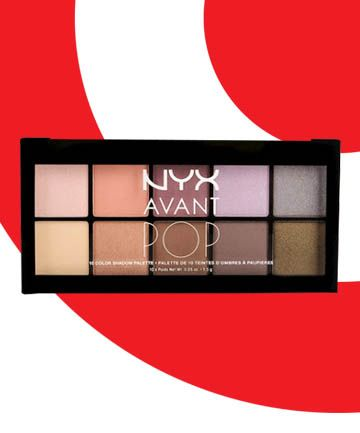 nyx avant pop eye shadow palette turns out the big red bulls eye marks the spot for some of the best beauty steals