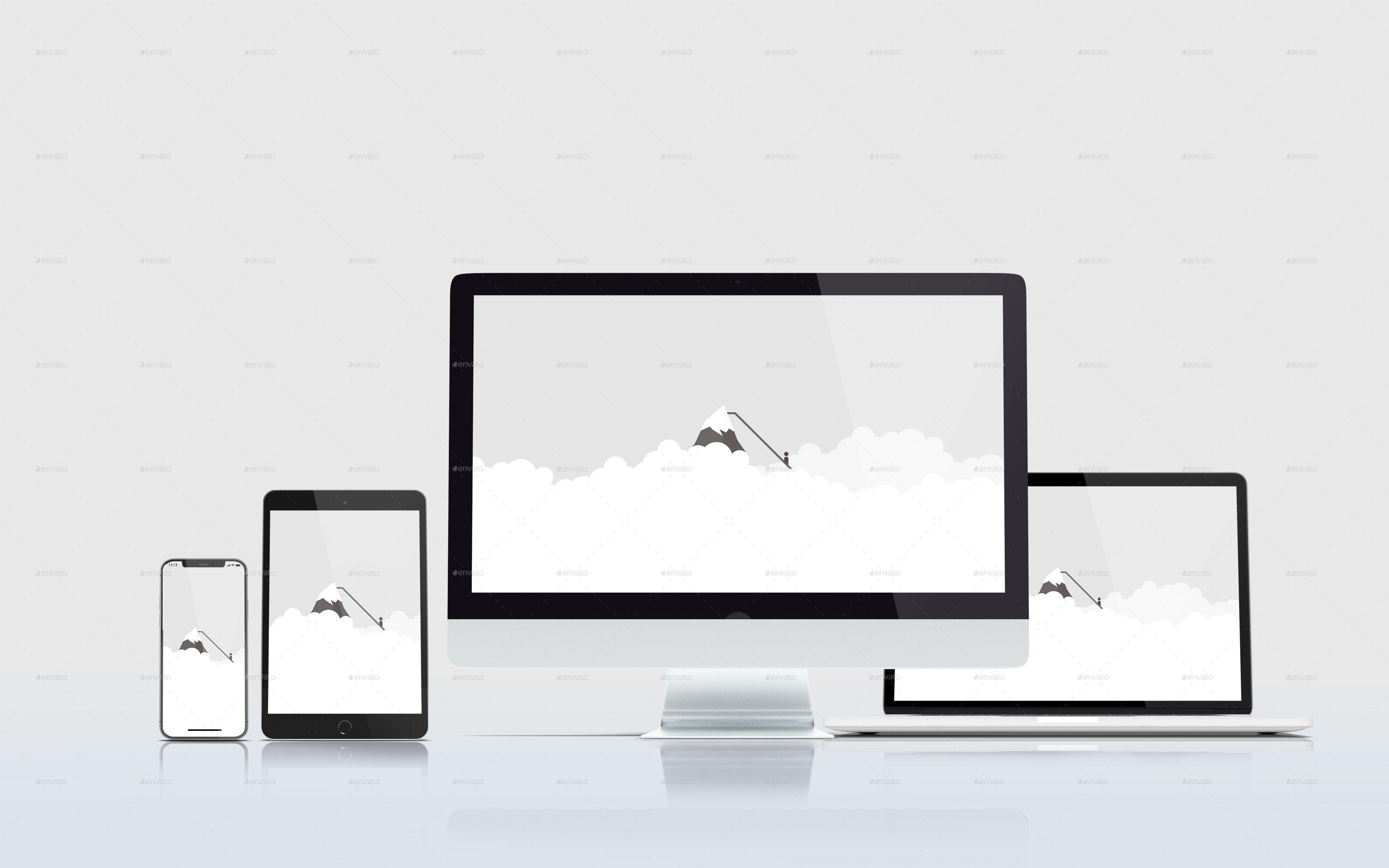Multi Device Responsive Website Mockup Website Mockup Mockup Responsive Web