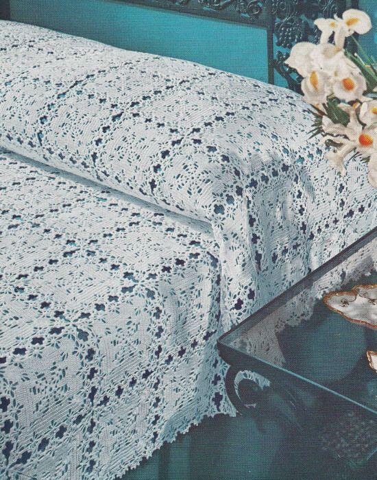 Vintage Crochet Pattern Orleans Motif Bedspread | Pinterest ...