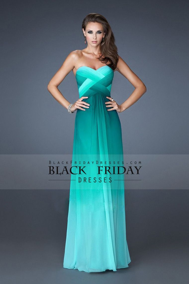 2014 Prom Dresses A Line Sweetheart Floor Length Cross Back Colorful ...