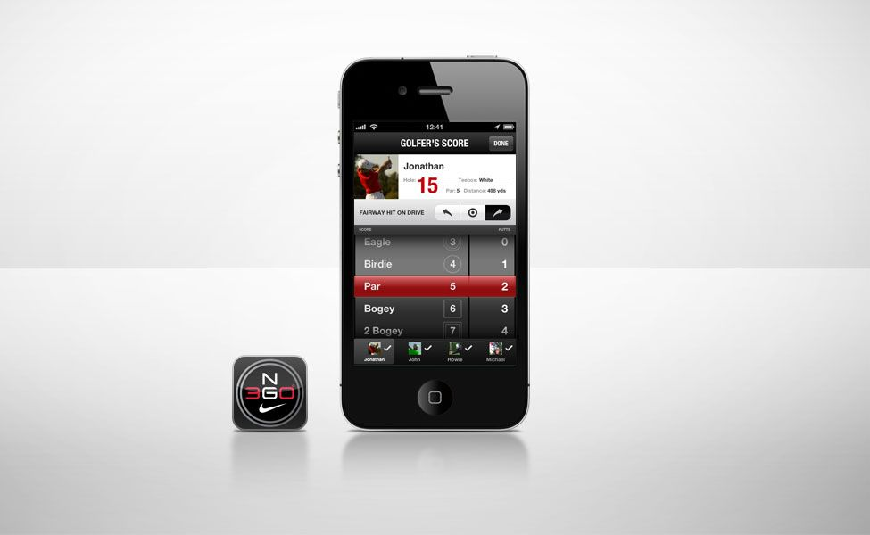 Nike Golf NG360 game tracking app and desktop site Track