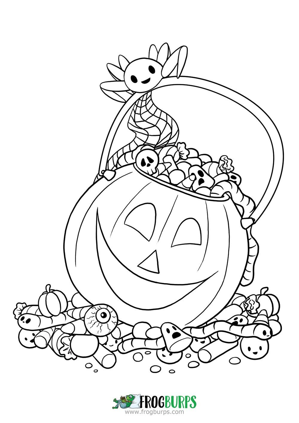 Halloween Candy Coloring Page Twisty Noodle Candy Coloring