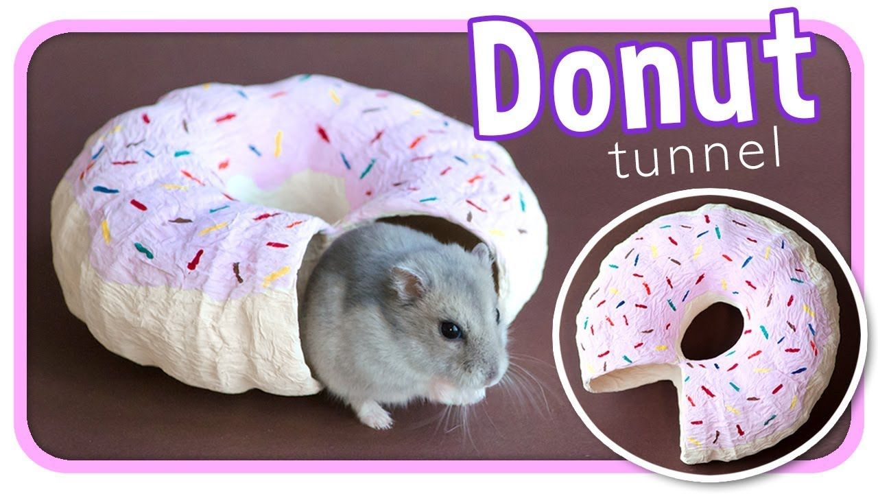 Frosted Donut Tunnel Diy Hamster Toy Diy Hamster Toys Hamster