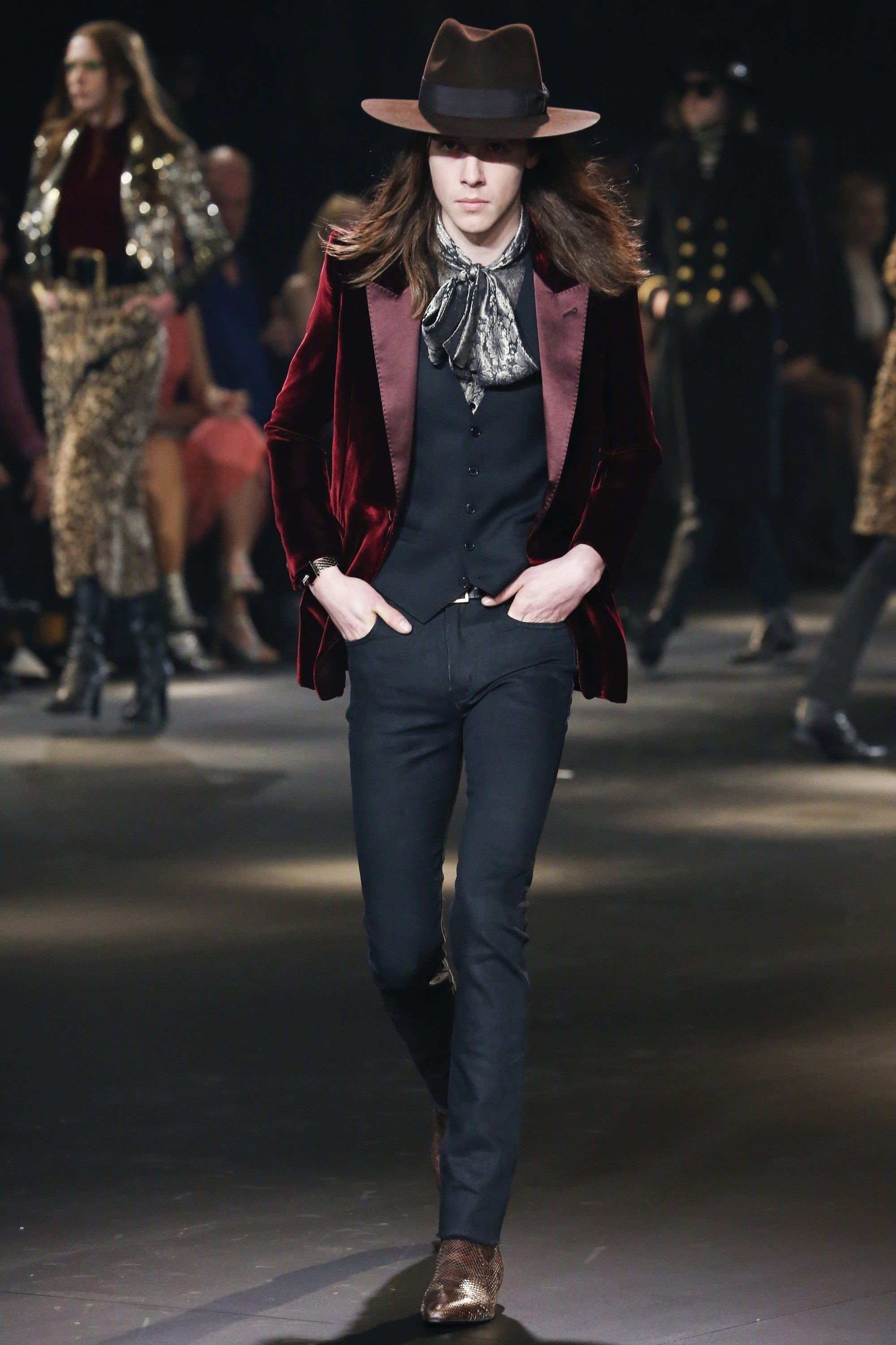 68d9d995537 Saint Laurent Fall 2016 Menswear Fashion Show in 2019 | Mens Fashion ...