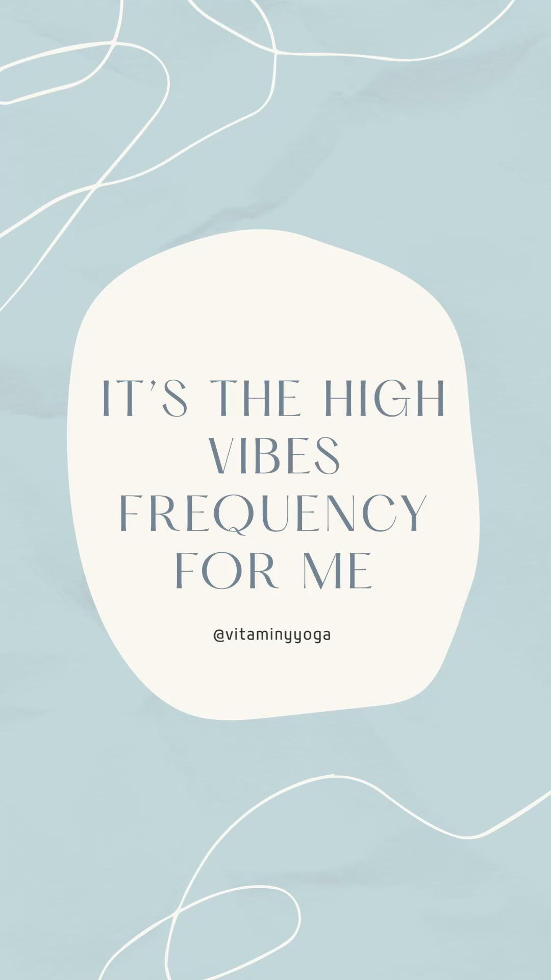 High Vibrations 💙 @vitaminyyoga