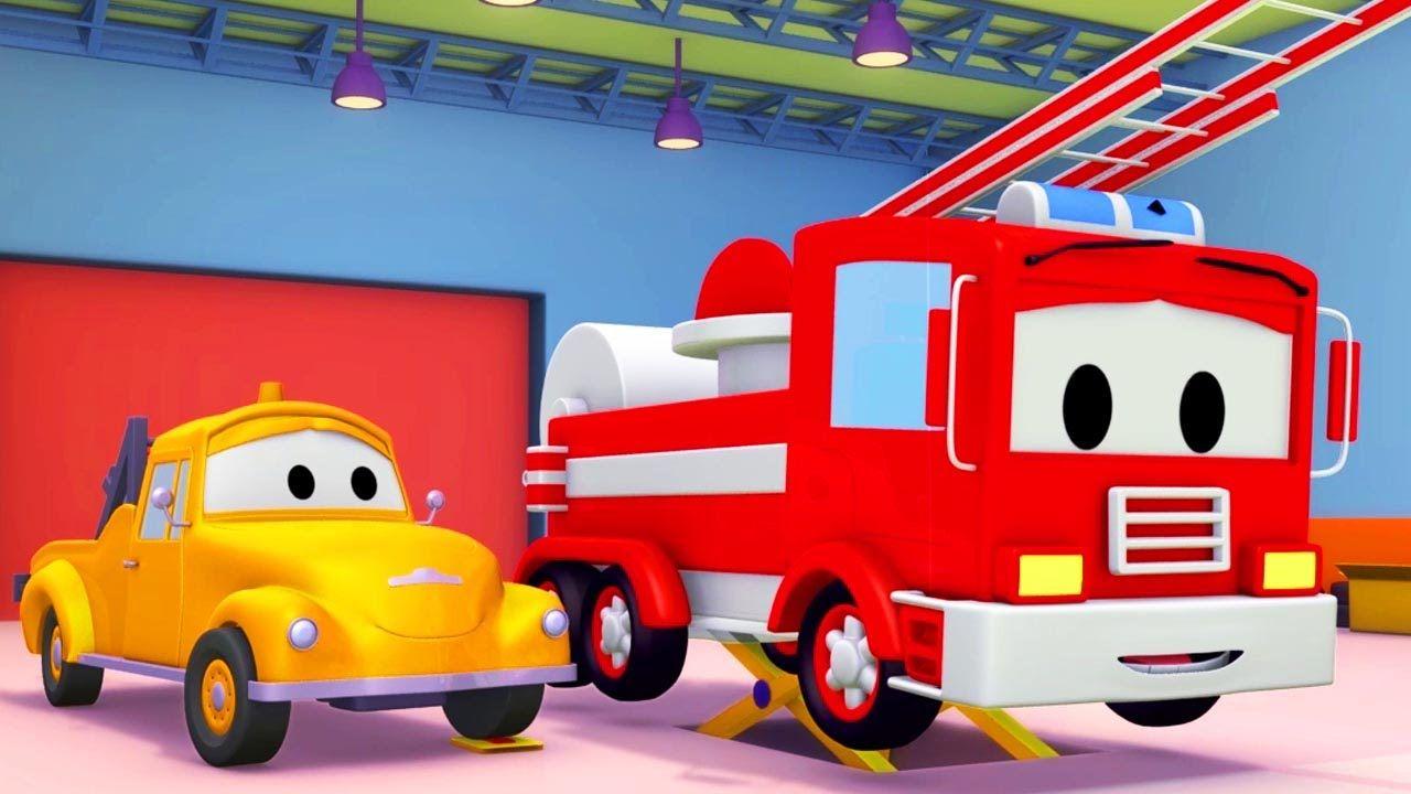 Tom la Grúa y el Camión de Bomberos en Auto City | Autos y camiones ...