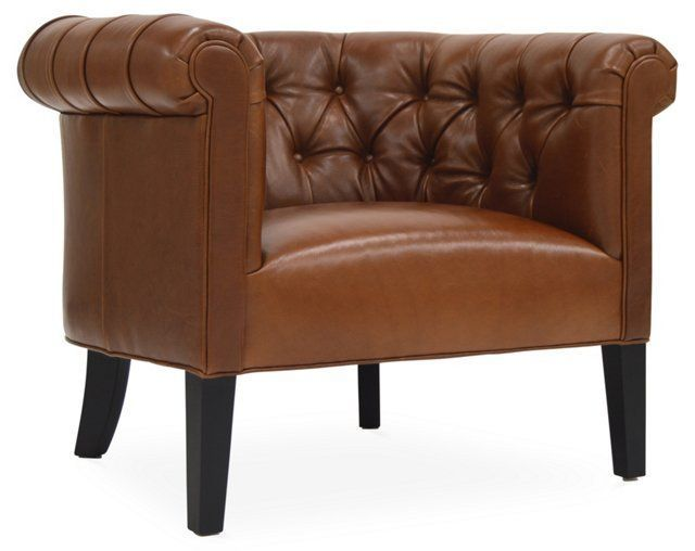 squire leather barrel chair chestnut lounge chair pinterest