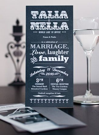 Wedding Cocktail Party Invites