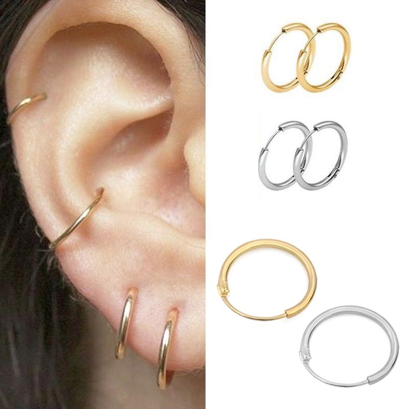 Polish Plain Circle 3mm Thick Hoop 2 1//2 inch Tube 925 Sterling Silver Earrings