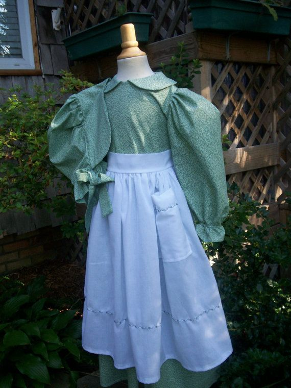 Pioneer dress bonnet and apron set, girls size 7 - 8 by ...
