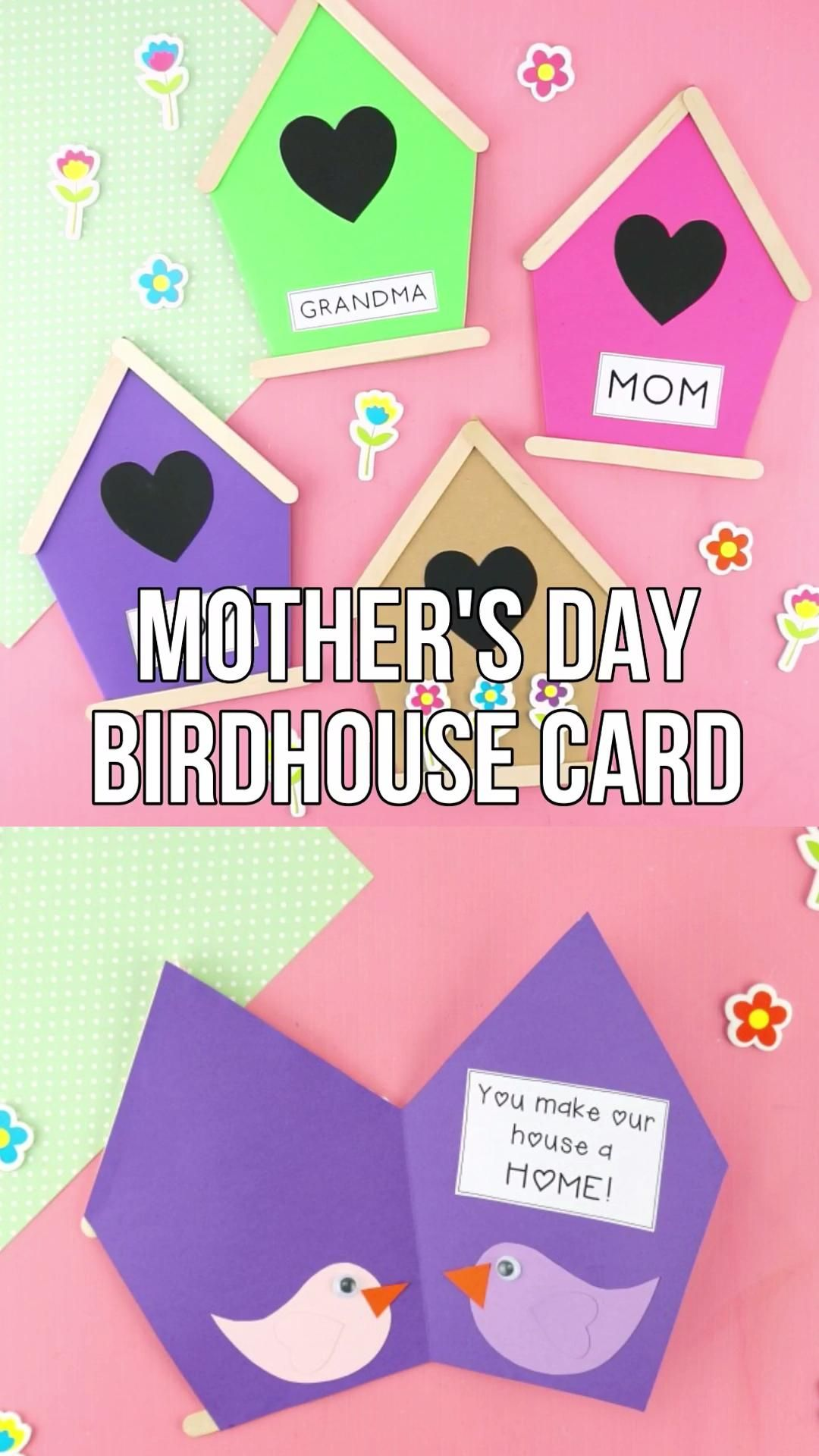 Cute Mother's Day Birdhouse Card