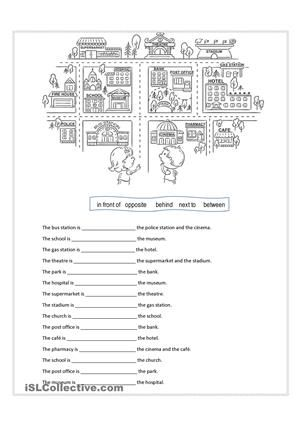 Prepositions Of Place Free Esl Worksheets | english for kids and ...