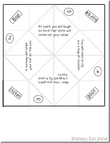 Cootie Catchers re-visited because I love them More Kids work - cootie catcher template