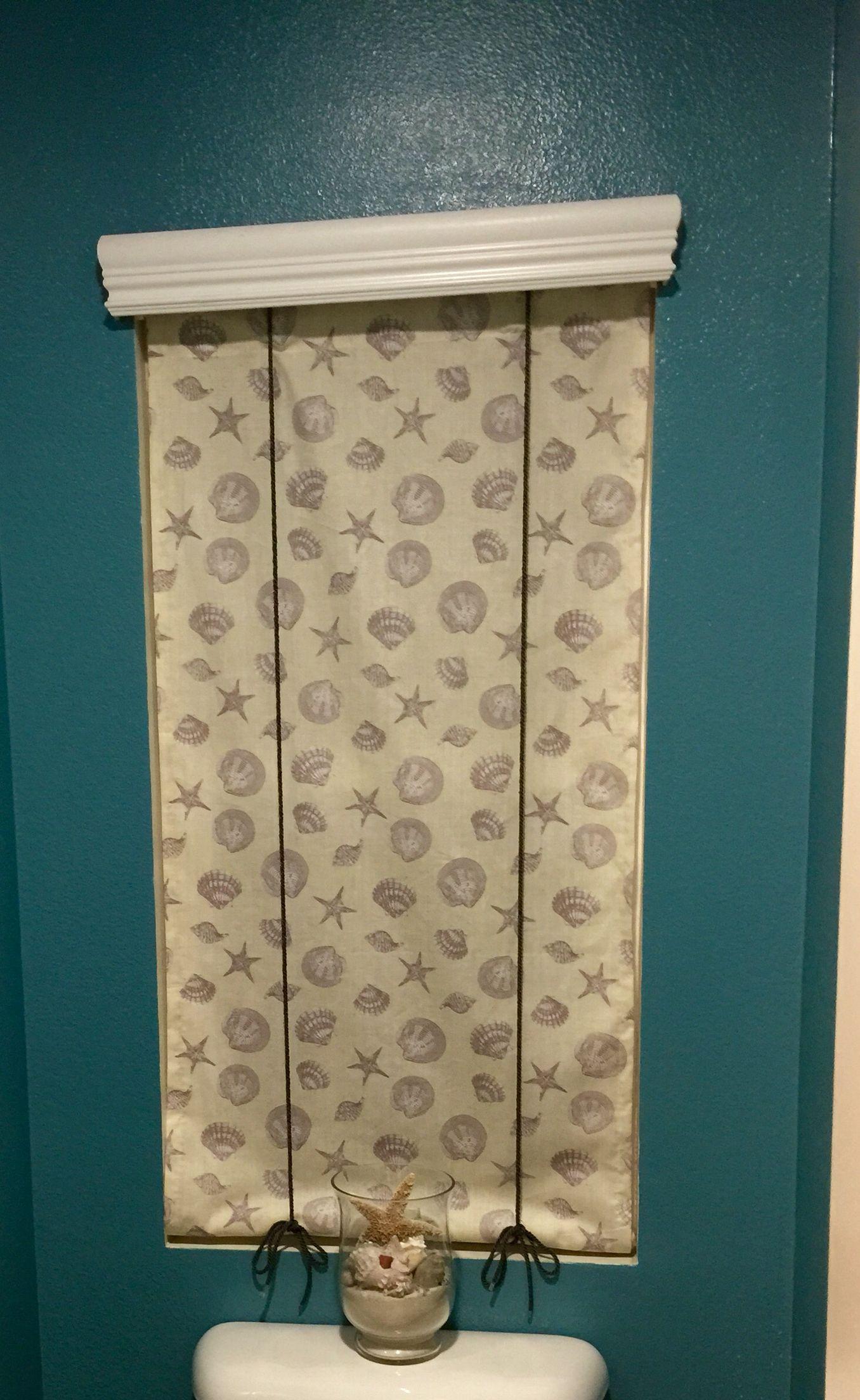 Seashell shade! Beach themed bathroom! Seashell curtain