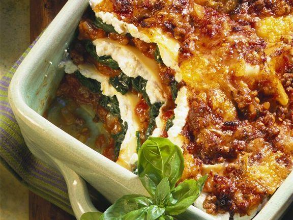 lasagne mit ricotta und spinat rezept kochrezepte. Black Bedroom Furniture Sets. Home Design Ideas