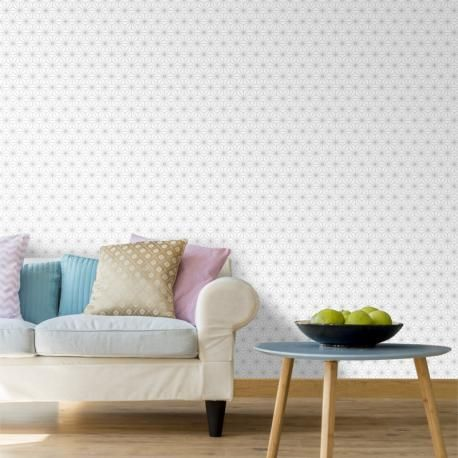 Papier peint Origami blanc et gris pailleté - Ugepa   Papier peint, Décoration maison, Papier ...