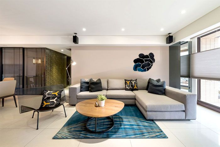 Modern Urban Dwelling by White Interior Design lobby Pinterest - Interior Design Wohnzimmer Modern