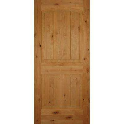 24 In X 80 2 Panel Arch Top V Grooved Solid Core Knotty Alder Interior Door Slab Pick One Pinterest And Doors