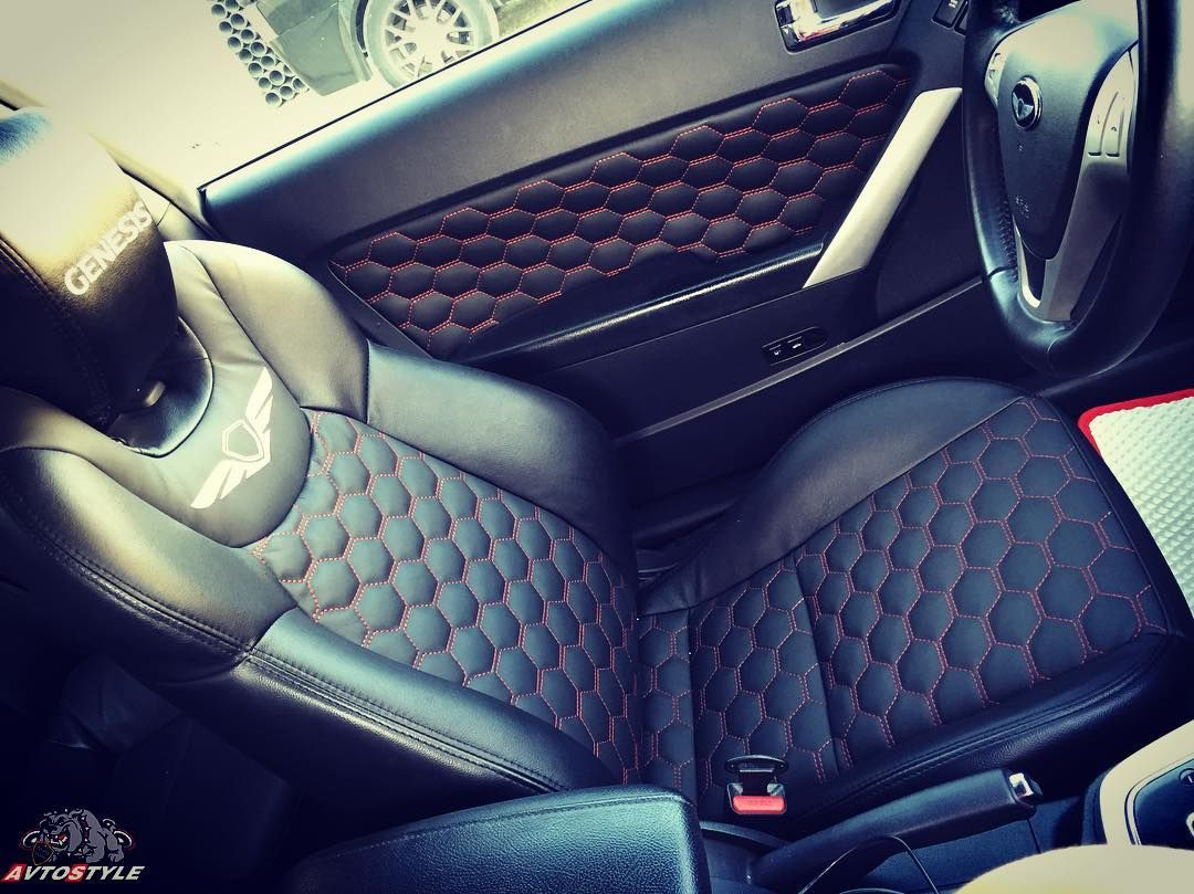 Car Auto Interior Seats Hexagon Stitch Red And Black Door Durable Peugeot 206 Silver Series Body Cover Selimut Mobil Panels