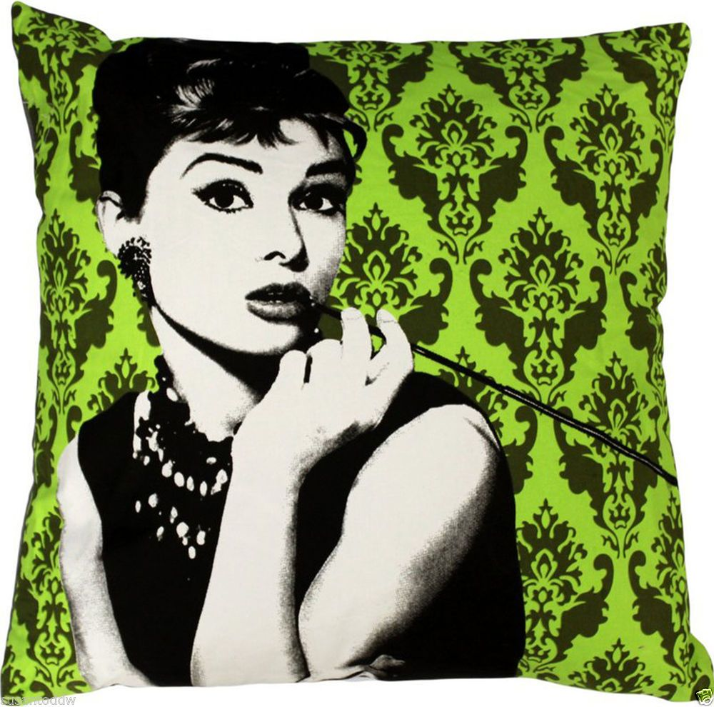 "24""x24"" Gorgeous Audrey Hepburn Heavy Cotton Floor Cushion complete with inner."