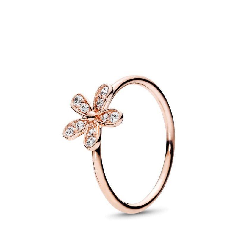 Princess Ring Pandora Gold Dazzling Daisy Ring Pandora Rose Clear Cz Pandora Rings Princess Daisy Ring Pandora Rings Rose