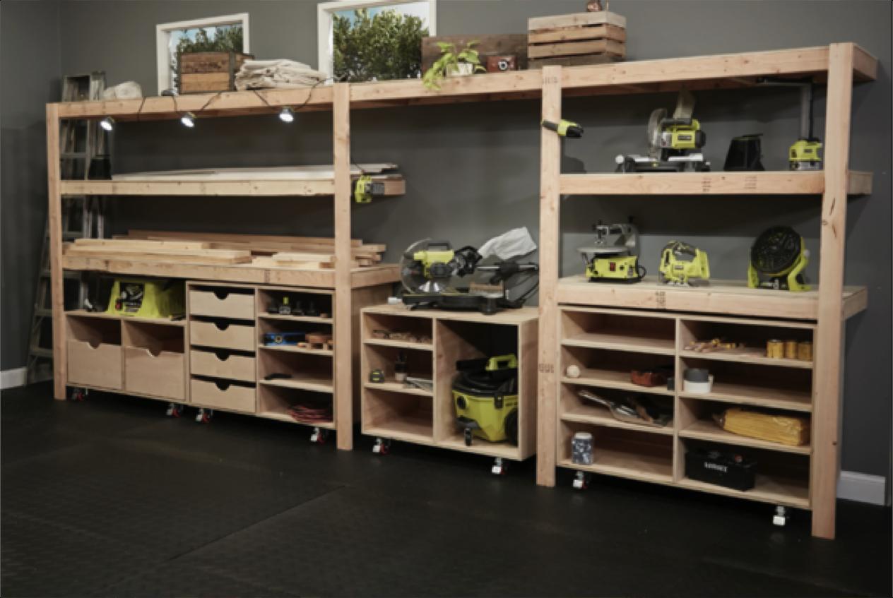 The Ryobi Nation Dream Diy built in shelves