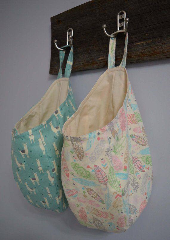 Easy Sew Hanging Storage Pod Basket Bag PDF Pattern,  #Bag #Basket #Easy #handschuhestrickeneinfach #hanging #pattern #pdf #Pod #Sew #Storage