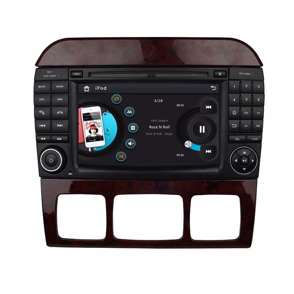 Hd 2 Din 7 Car Dvd Player For Mercedes Benz S Class W220 S280 S320 S350 S400 S430 S500 With Radio Gps Bluetooth Swc Aux I Car Dvd Players Car Radio