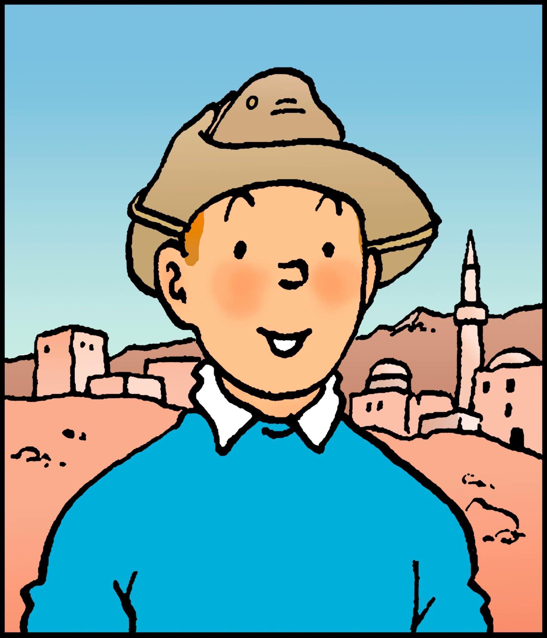 1957 Souvenir De Wadesdah Tintin In Wadesdah Dessin Realise Pour Les Pages De Garde Des Albums De Tintin Tintin Herge Bd Tintin Herge Tintin