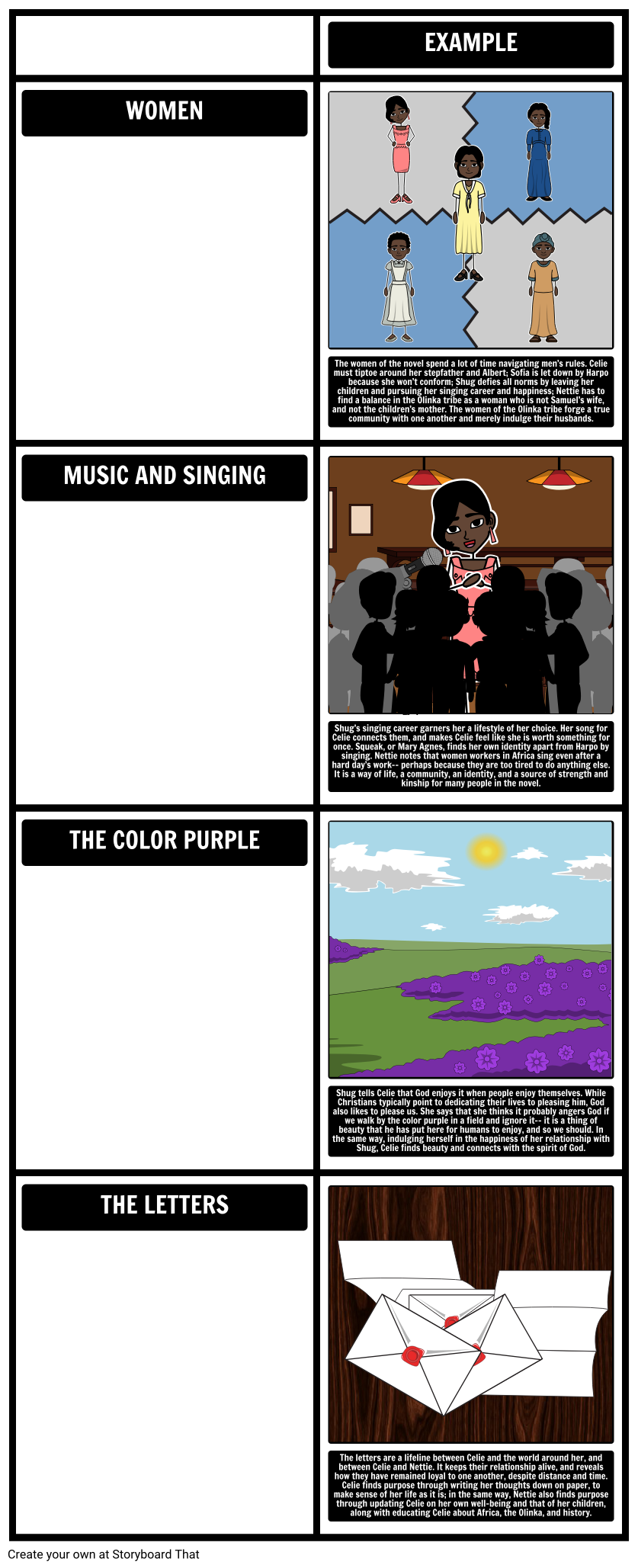 The Color Purple by Alice Walker - Themes, Symbols, and Motifs ...