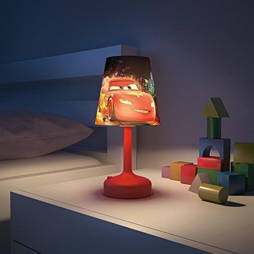 Disney cars portable led childrens bedside table lamp bedroom light disney cars portable led childrens bedside table lamp bedroom light philips red mozeypictures Choice Image