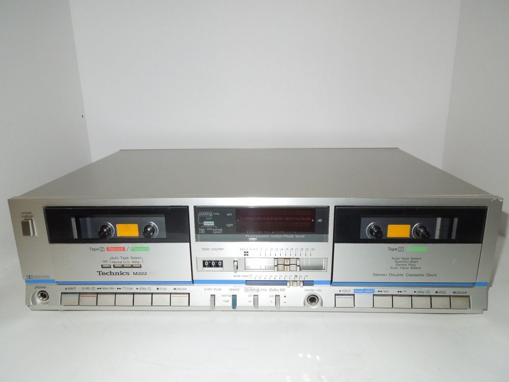 Technics M222 Dual Cassette Deck Player Recorder Near Mint Condition Technics Cassette Audio Mixer Deck