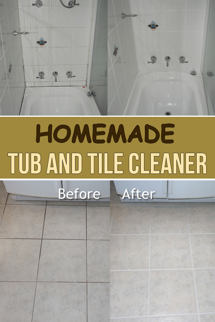 Homemade Tub And Tile Cleaner Simple Tips For You Cleaning Bathroom Tiles Tile Cleaners Cleaning Bathroom Tub