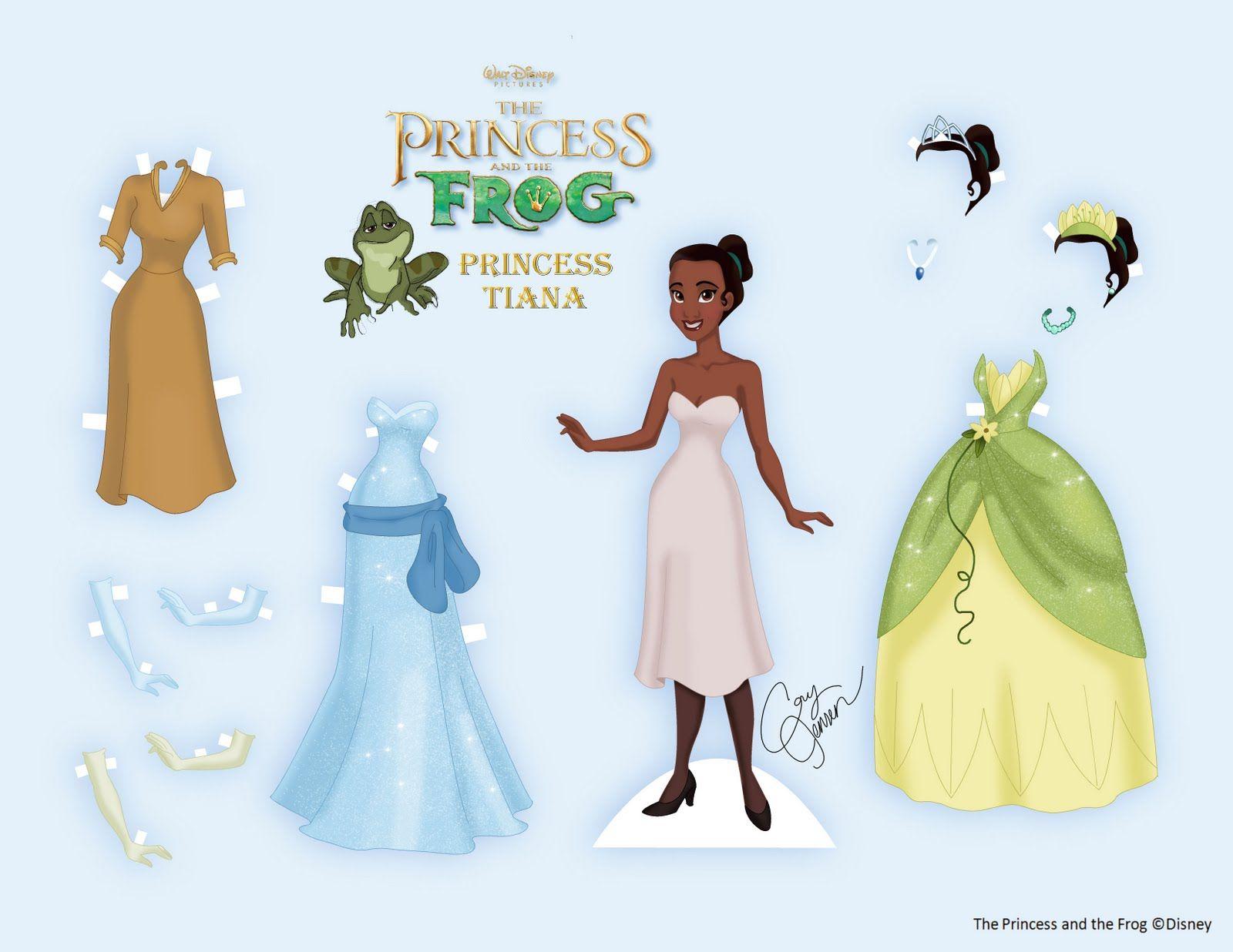 Imagen princesa tiana para imprimir y recortar-Imagenes y dibujos ...