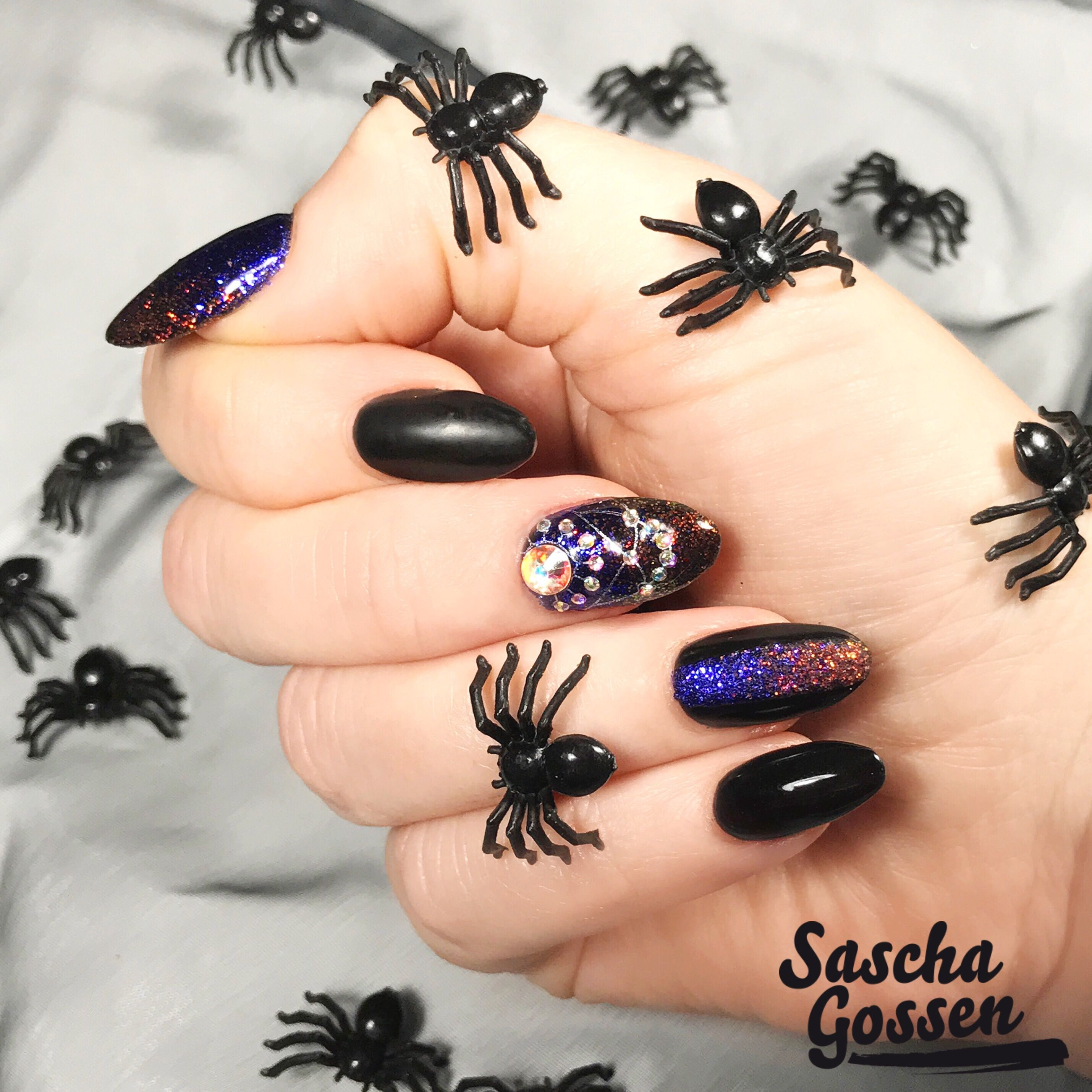 Almost Halloween ... CND™ SHELLAC™ Black Pool with Lecenté ...