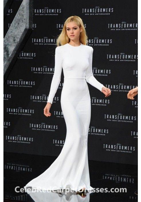 0ae162ec0c Nicola Peltz White Long-sleeve Celebrity Dress Transformers Berlin Premiere