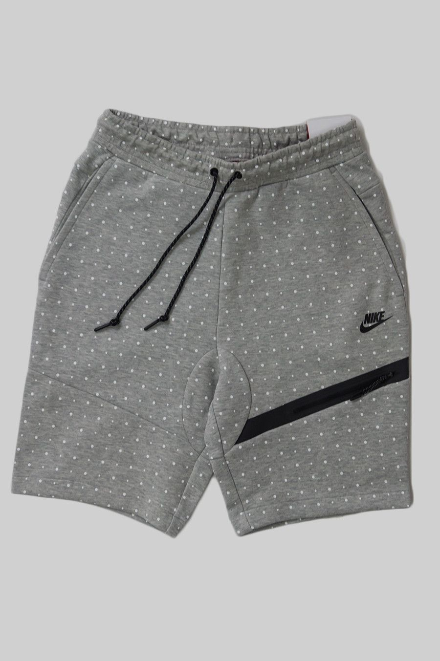 Nike tech fleece dot short medium grey white black blltons