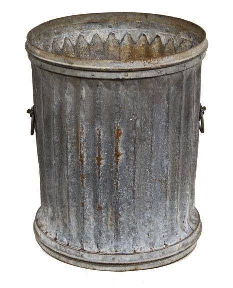 Metal Garbage Cans Trash Cans Trash Can Vintage Industrial